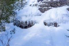 Λεπτομέρεια χειμερινών τοπίων σε Val Δαβίδ στοκ εικόνες