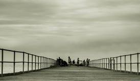 Λιμενοβραχίονας απλός στη θάλασσα στοκ φωτογραφίες με δικαίωμα ελεύθερης χρήσης