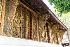 Λουρί Xieng Wat ή ο χρυσός ναός πόλεων σε Luang Prabang, Λάος στοκ φωτογραφία με δικαίωμα ελεύθερης χρήσης