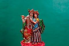 Λόρδος Krishna και Radha, ινδικός Θεός στοκ φωτογραφίες