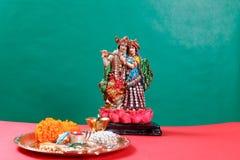 Λόρδος Krishna και Radha, ινδικός Θεός στοκ εικόνες