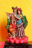 Λόρδος Krishna και Radha, ινδικός Θεός στοκ εικόνα με δικαίωμα ελεύθερης χρήσης