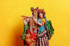 Λόρδος Krishna και Radha, ινδικός Θεός στοκ εικόνα