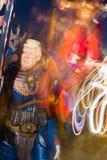 Μάσκα ατού του Donald στο καρναβάλι του viareggio στοκ εικόνα