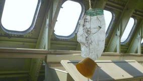 Μάσκα οξυγόνου στο αεροπλάνο απόθεμα βίντεο