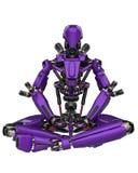 Μέγα πορφυρός έξοχος κηφήνας ρομπότ σε ένα άσπρο υπόβαθρο ελεύθερη απεικόνιση δικαιώματος