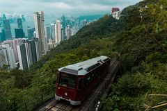μέγιστο τραμ του Χογκ Κογκ στοκ φωτογραφία με δικαίωμα ελεύθερης χρήσης