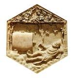 Μέθη του Νώε Andrea Pisano Βιβλική ιστορία στοκ εικόνες