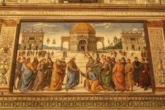 Μέσα στο παρεκκλησι Sistine στοκ φωτογραφία με δικαίωμα ελεύθερης χρήσης