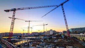 Μήκος σε πόδηα Timelapse ενός μεγάλου εργοτάξιου οικοδομής απόθεμα βίντεο
