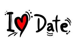 Μήνυμα αγάπης φρούτων ημερομηνίας στοκ εικόνα με δικαίωμα ελεύθερης χρήσης