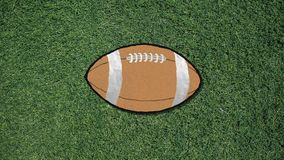 Μακρύ χέρι που συγκεντρώνει ένα αναδρομικό ύφος διακοπής ποδοσφαίρου ελεύθερη απεικόνιση δικαιώματος