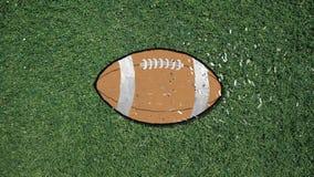Μακρύ χέρι που συγκεντρώνει ένα αναδρομικό ύφος διακοπής ποδοσφαίρου με το κομφετί απεικόνιση αποθεμάτων