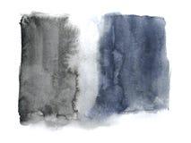 Μαύρο αφηρημένο χέρι Watercolor που σύρεται Απομονωμένη άσπρη ανασκόπηση Υγρός στο υγρό ύφος διανυσματική απεικόνιση