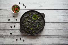 Μαύρο τσίλι από τα μαύρα φασόλια Εθνική κουζίνα στοκ φωτογραφία με δικαίωμα ελεύθερης χρήσης