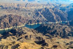 Μαύρο φαράγγι ποταμών και το φράγμα Hoover στοκ φωτογραφίες