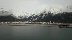 Μεγάλα λιμάνι και ναυπηγείο στην Αλάσκα απόθεμα βίντεο