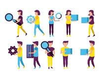 Μεγάλοι στοιχεία και συνάδελφοι διανυσματική απεικόνιση