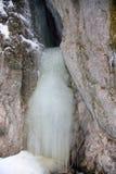 Μεγάλο φαράγγι γερακιών στο σλοβάκικο εθνικό πάρκο παραδείσου το χειμώνα, Σλοβακία στοκ εικόνες με δικαίωμα ελεύθερης χρήσης
