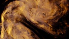 Μελάνι που χύνεται στο νερό, κίτρινος και μαύρος Μελάνια στο νερό Ζωηρόχρωμη αφηρημένη ζωτικότητα έκρηξης καπνού απόθεμα βίντεο