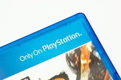 """Μελβούρνη, Αυστραλία - 13 Ιανουαρίου 2019: Κινηματογράφηση σε πρώτο πλάνο """"μόνο σε PlayStation """"τυπωμένος σε ένα PlayStation 4 τη στοκ φωτογραφίες με δικαίωμα ελεύθερης χρήσης"""