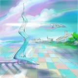 Μελλοντική τεχνολογία παγκόσμιου aero απεικόνισης ζωγραφικής στοκ φωτογραφία με δικαίωμα ελεύθερης χρήσης