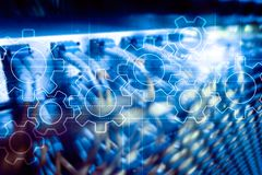Μηχανισμός εργαλείων, ψηφιακός μετασχηματισμός, ολοκλήρωση στοιχείων και ψηφιακή έννοια τεχνολογίας στοκ εικόνες με δικαίωμα ελεύθερης χρήσης