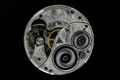 Μηχανισμός ρολογιών παλαιών χεριών στοκ εικόνα