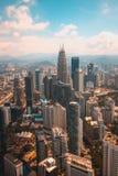 Μια άποψη από το πιό ψηλό κτήριο στη Κουάλα Λουμπούρ στοκ εικόνα
