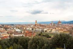 Μια άποψη από το Piazzale Michelangelo στοκ εικόνες με δικαίωμα ελεύθερης χρήσης