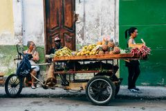 Μια στάση φρούτων στην Αβάνα, Κούβα στοκ φωτογραφία με δικαίωμα ελεύθερης χρήσης