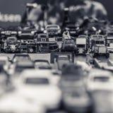 Μικροσκοπικά αυτοκίνητα Kingsday Άμστερνταμ στοκ εικόνα