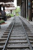 Μιμηθείτε το σιδηρόδρομο στην αγορά στοκ εικόνες