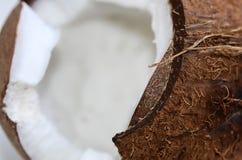 μισή καρύδα στο άσπρο υπόβαθρο Ψαλιδίζοντας μονοπάτι στοκ φωτογραφία με δικαίωμα ελεύθερης χρήσης