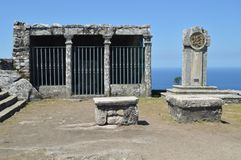 Μνημείο στο υποστήριγμα Calvary Santa Tecla στη φρουρά Αρχιτεκτονική, ιστορία, ταξίδι 15 Αυγούστου 2014 Λα Guardia, στοκ φωτογραφία με δικαίωμα ελεύθερης χρήσης