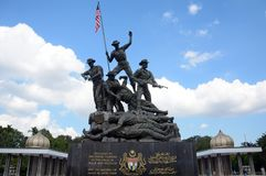 μνημείο της Κουάλα Λουμπούρ Μαλαισία εθνικό στοκ φωτογραφίες