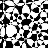 Μονοχρωματικό αφηρημένο άνευ ραφής διανυσματικό σχέδιο κύκλων υποβάθρου γραπτό τεμνόμενο Σύγχρονη επικάλυψη σκηνικού ελεύθερη απεικόνιση δικαιώματος