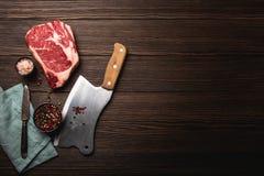 Μπαλτάς Ribeye και κρέατος στοκ φωτογραφία με δικαίωμα ελεύθερης χρήσης