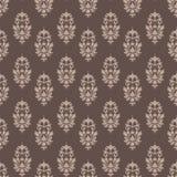 Μπαρόκ damask ταπετσαριών σχεδίων άνευ ραφής καφές και κρέμα απεικόνιση αποθεμάτων