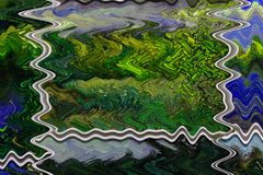 Μπλε αφηρημένη θολωμένη υπόβαθρο διακόσμηση Watercolor σύστασης στοκ φωτογραφία με δικαίωμα ελεύθερης χρήσης
