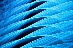 Μπλε αφηρημένο κύμα του φωτός απεικόνιση αποθεμάτων