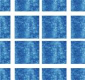 Μπλε τετραγωνική σχεδίων υποβάθρου σύστασης ταπετσαριών σχεδίου τέχνης αφηρημένη κύβων διακοσμήσεων θερινή θάλασσα ιματισμού υποβ στοκ εικόνα με δικαίωμα ελεύθερης χρήσης