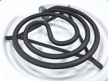 Νέα καθαρή άσπρη ηλεκτρική σόμπα για το μαγείρεμα, στο άσπρο υπόβαθρο στοκ εικόνες με δικαίωμα ελεύθερης χρήσης