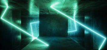 Νέου καμμένος γαλαζοπράσινος Cyber σύγχρονος αλλοδαπός διαστημοπλοίων καπνός φω'των του Sci Fi φουτουριστικός διαμορφωμένος ορθογ διανυσματική απεικόνιση