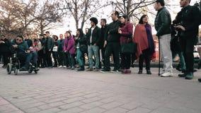 Νίκη μουσικής και εορτασμού Canakkale ακούσματος ανθρώπων και ημέρα του μάρτυρα στην οδό φιλμ μικρού μήκους