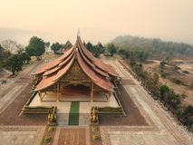 Ναός Wararam Phupao Sirinthorn ή αναφερόμενος γενικά ως καμμένος ναός, που βρίσκεται στην επαρχία Ubon Ratchathani, Ταϊλάνδη στοκ φωτογραφία με δικαίωμα ελεύθερης χρήσης