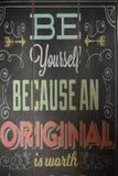Να είστε αρχικός, να είστε ακριβώς το ράφι σας! στοκ φωτογραφία με δικαίωμα ελεύθερης χρήσης