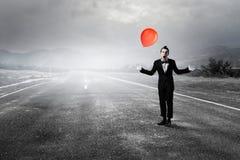Νεαρός άνδρας mime Μικτά μέσα απεικόνιση αποθεμάτων