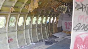 Νεκροταφείο αεροπλάνων στη Μπανγκόκ απόθεμα βίντεο