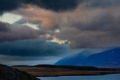 Νεφελώδης ουρανός πέρα από Eyjafjordur κοντά σε Akureyri Ισλανδία στοκ φωτογραφία με δικαίωμα ελεύθερης χρήσης